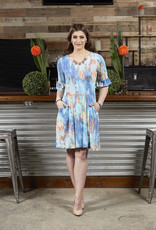 Tie Dye Azurite Dress