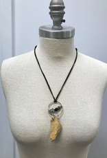 Driftwood Necklace with Lava Stone