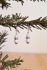 Faux Pearl Glitzy Earrings
