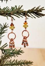 Glass Beaded Chandelier Earrings