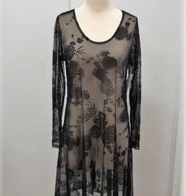 Barely Dress Fingertip Floral Mesh - Size 12 (Consignment)