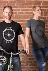 """Live to Ride"" Bike T-shirt - 3 Colors Female Cut"