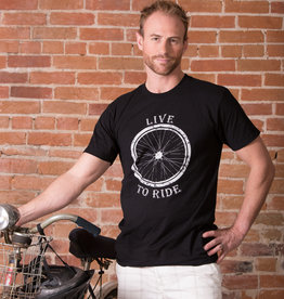 """Live to Ride"" Bike T-shirt - 3 Colors Unisex Cut"