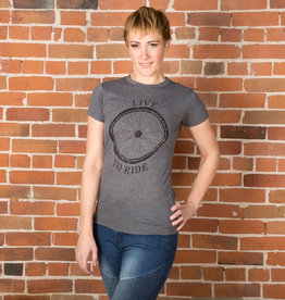"""Live to Ride"" Bike T-shirt - 3 Colors Female Cut"