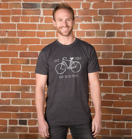 """""""Ride with Pride, Canada"""" Bike T-shirt - 3 Colors Unisex Cut"""