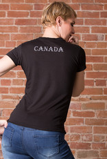 """Ride with Pride, Canada"" Bike T-shirt - 3 Colors Female Cut"
