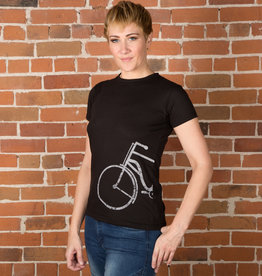 Half Bike T-shirt - 2 Colors Female Cut