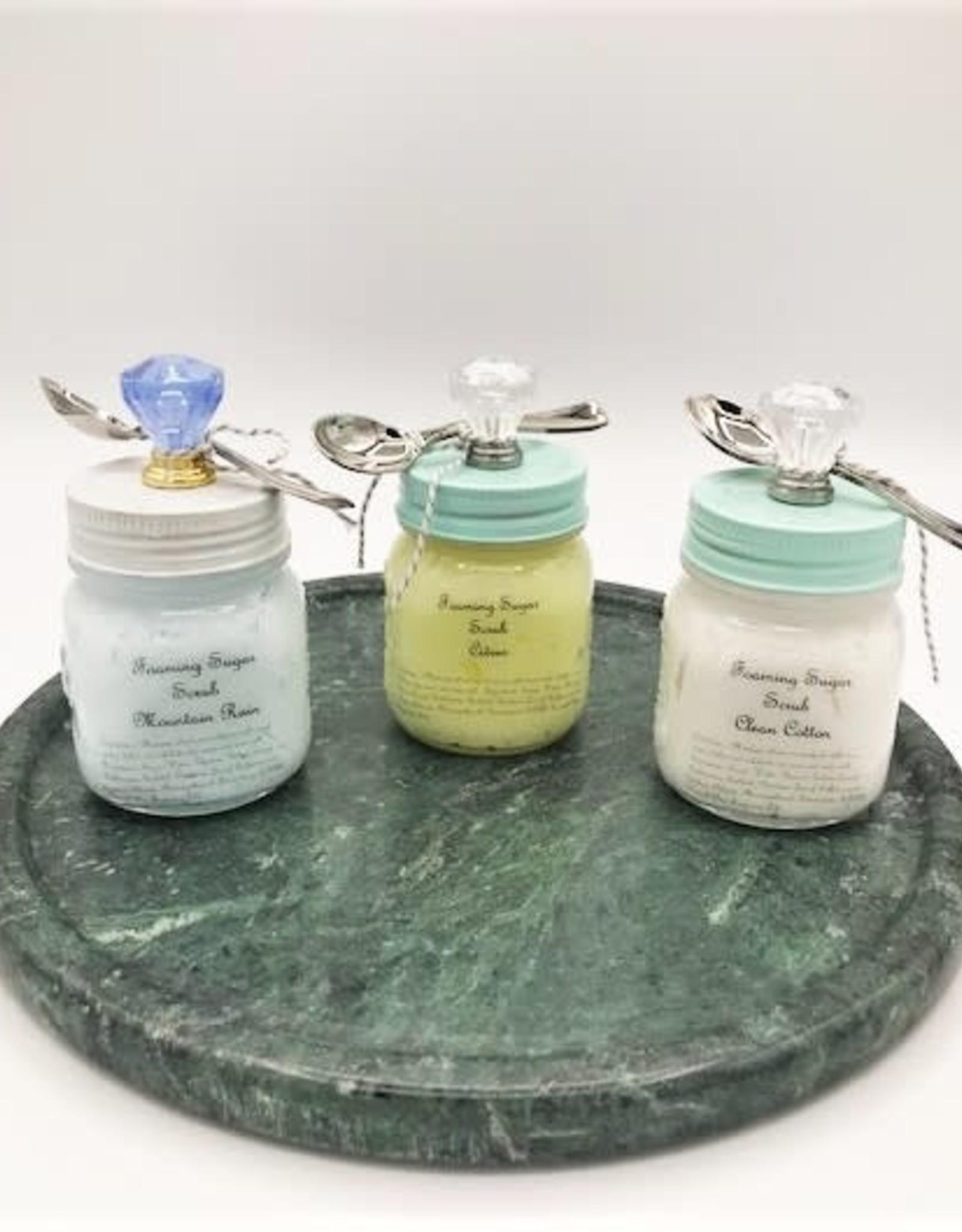 Tish's Bath & Suds Foaming Sugar Scrub - Three Scents