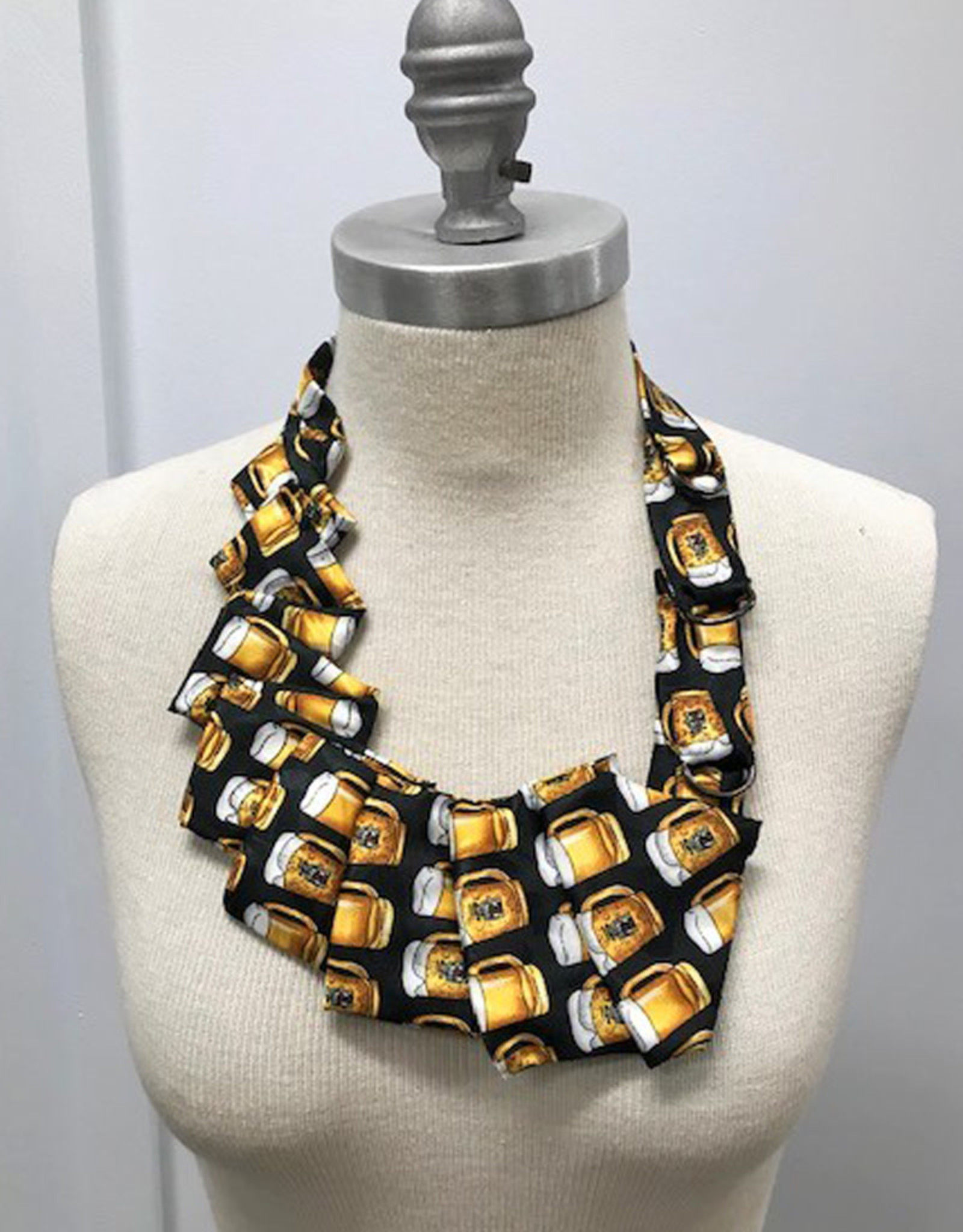 Beer Motif Necktie Necklace