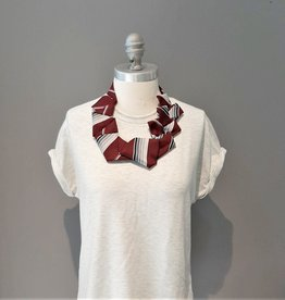 Deep Red Necktie Necklace