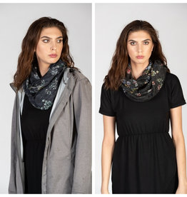 Infinity Scarf- Charcoal & Navy