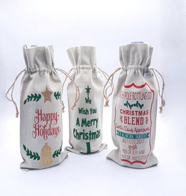 Holiday & Christmas Wine Sleeves - 7 Prints to choose from!