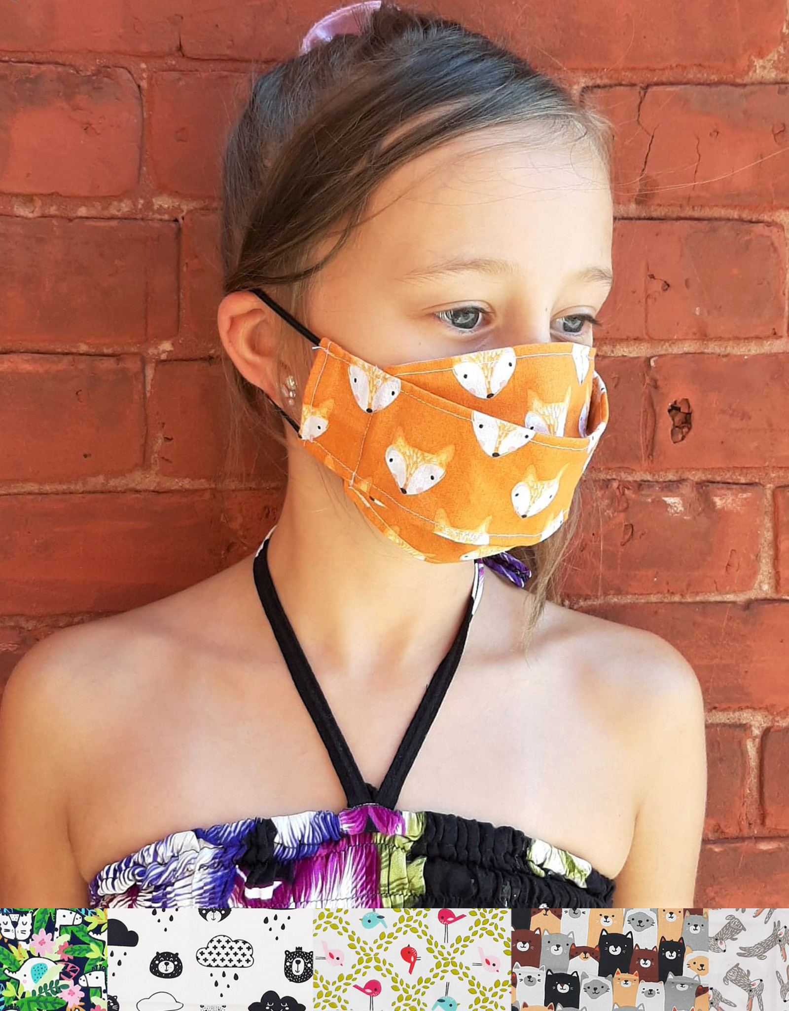 Child Adjustable Face Mask - Animals