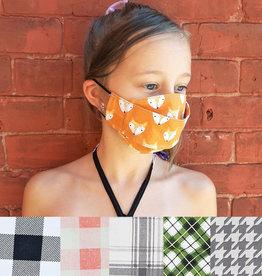 Child Adjustable Face Mask - Plaids & Houndstooth