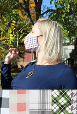 Adult Adjustable Face Mask - Plaids & Houndstooth