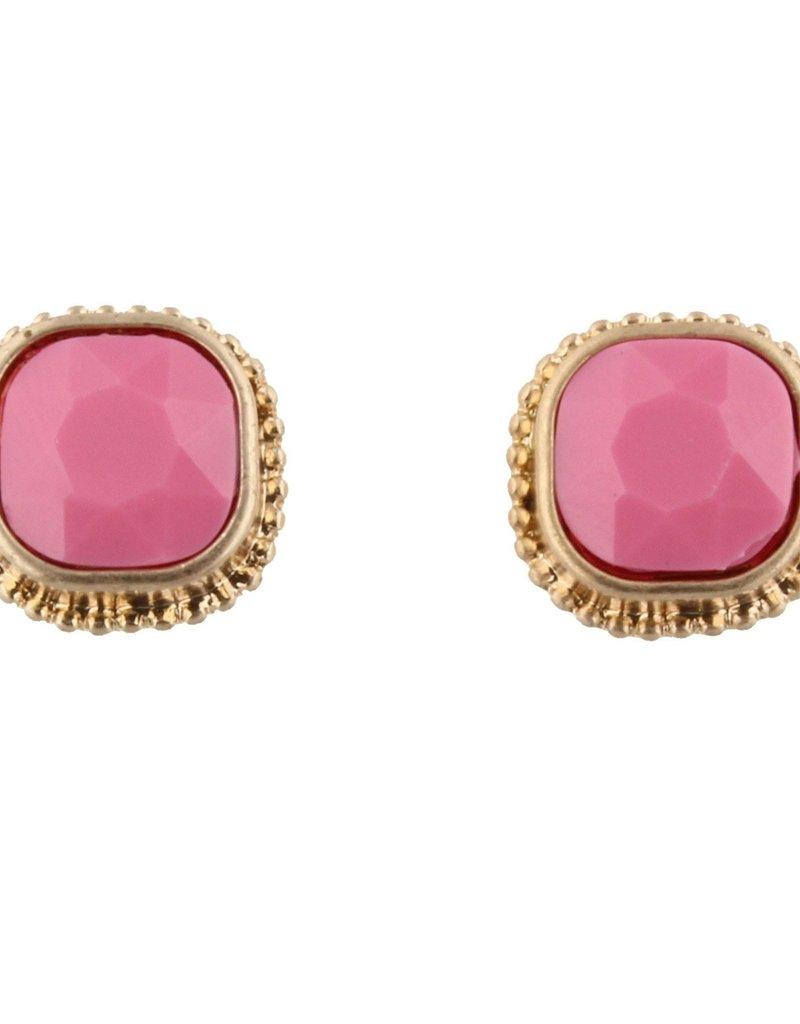 Pink Stud Earring