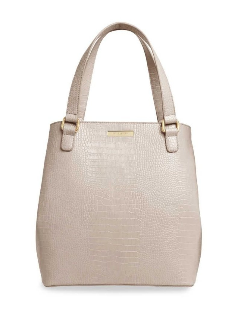 Celine Croc Day Bag Oyster