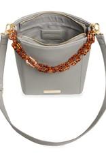 Ayla Tortoise Shell Strap Bag Grey