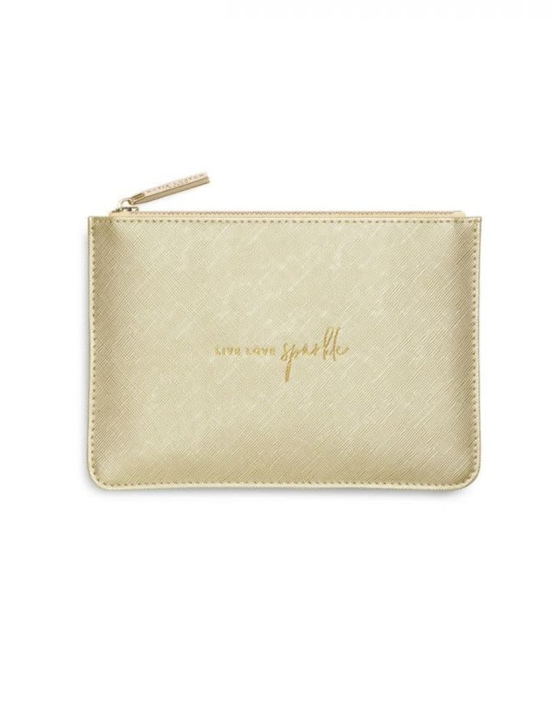 Petite Perfect Pouch Metallic Gold