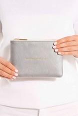 Petite Perfect Pouch Metallic Silver