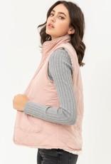 Blush Reversible Sherpa Vest