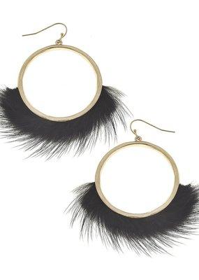 Margot Hoop Earrings Black