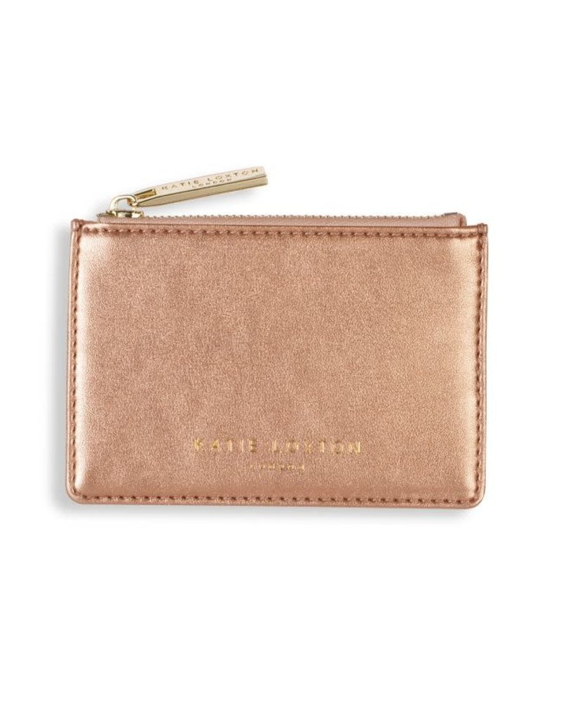 Alexa Metallic Card Holder - Rose Gold