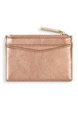 Alexa Metallic Card Holder - Rose Gold