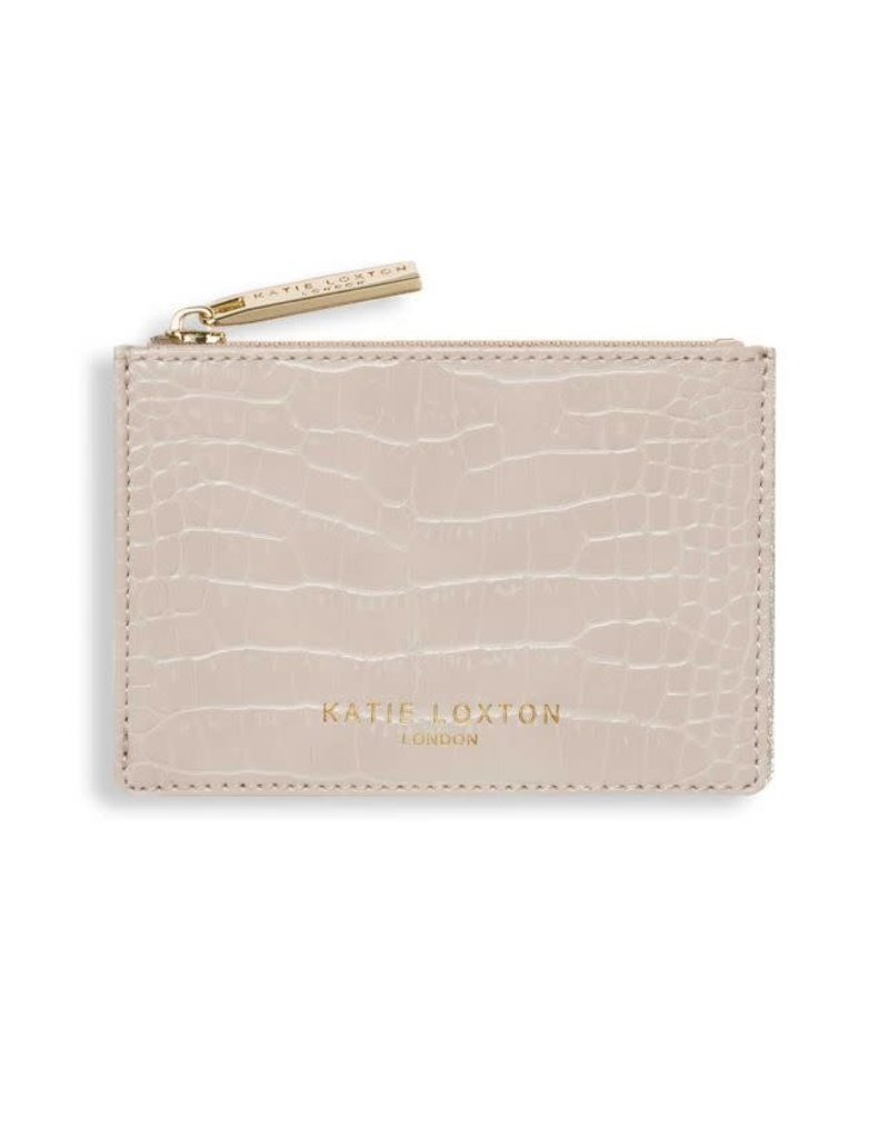 Celine Croc Coin Purse Oyster