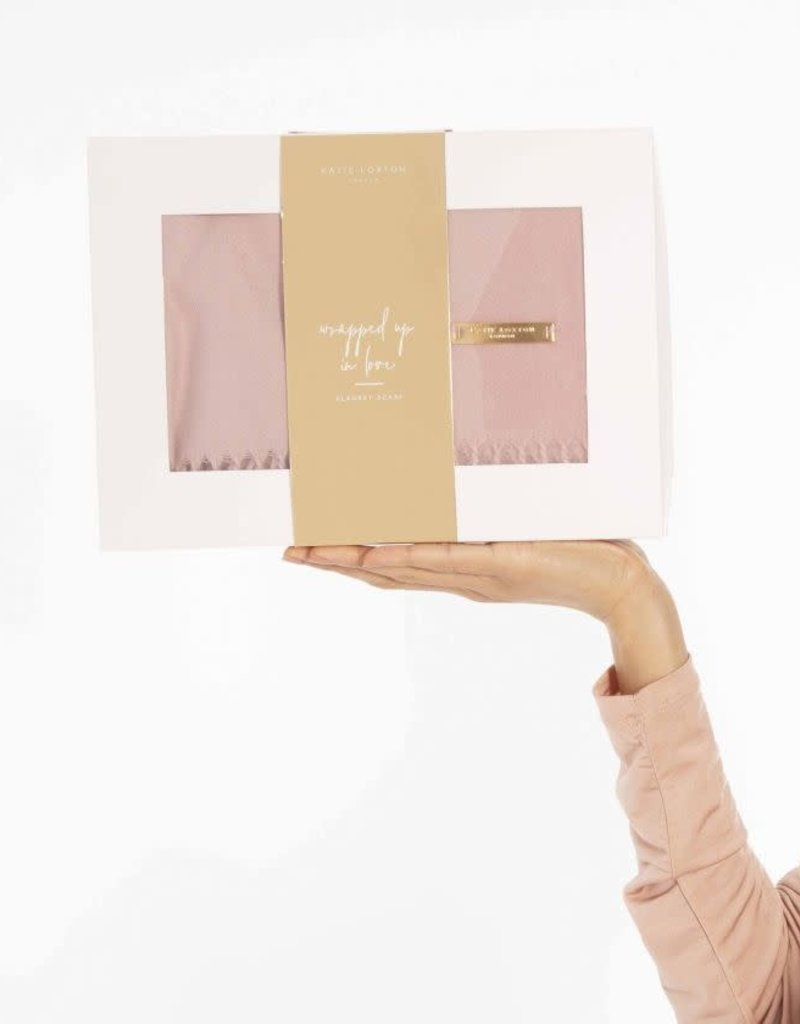 Wrapped In Love Boxed Scarf Blush Pink