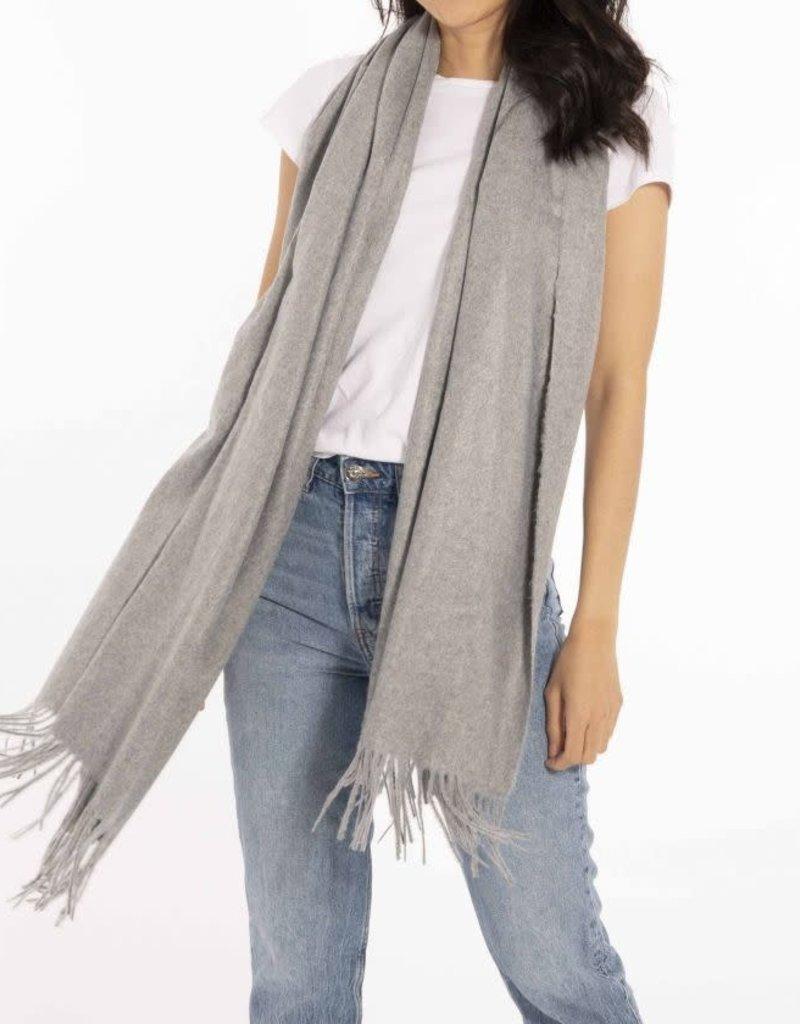 Wrapped In Love Boxed Scarf Grey