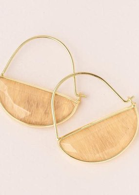 Stone Prism Hoop Citrine/Gold