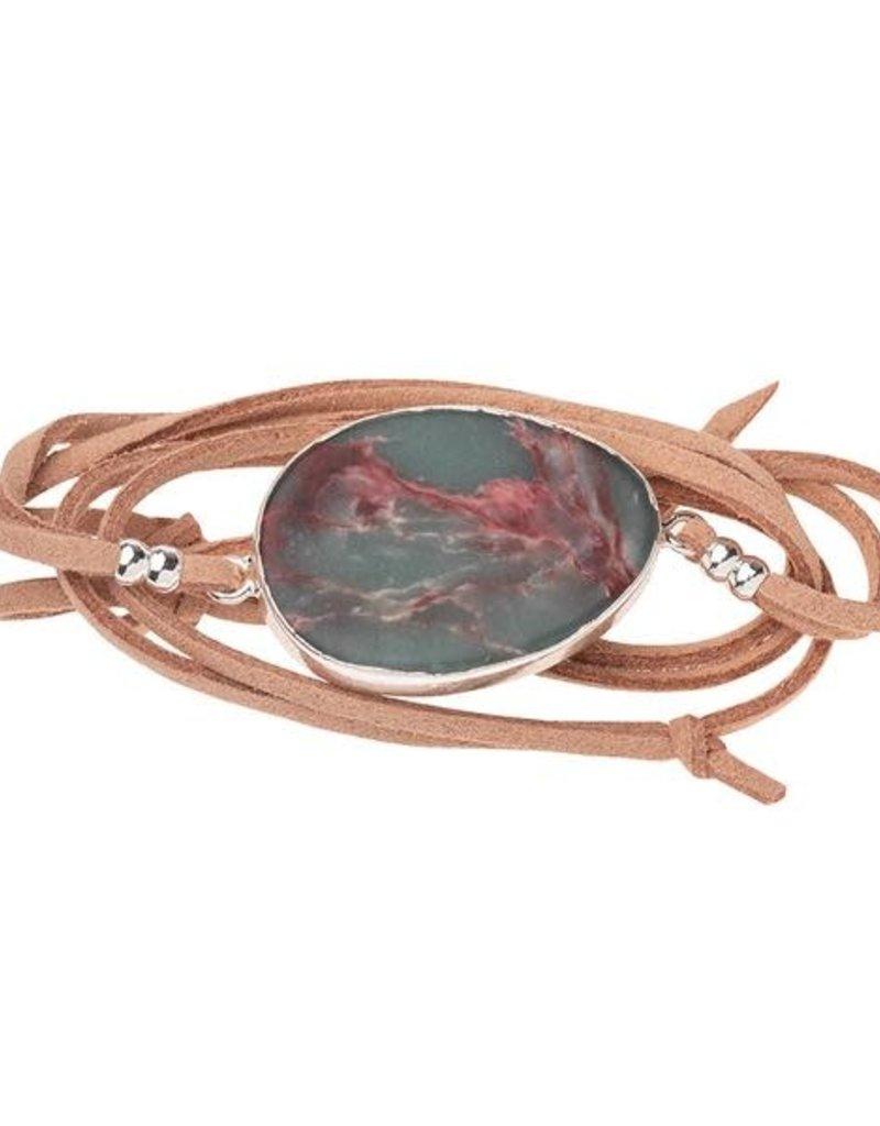 Aqua Terra Silver Suede Stone Wrap