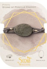 Pyrite Gold Suede Stone Wrap