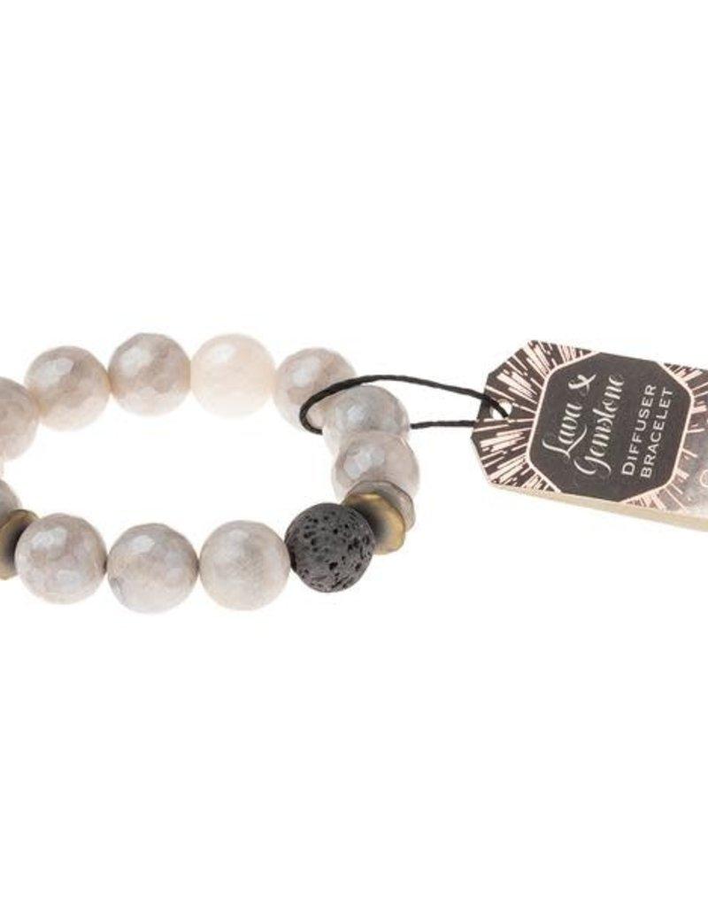Lava Gemstone Diffuser Bracelet Champagne