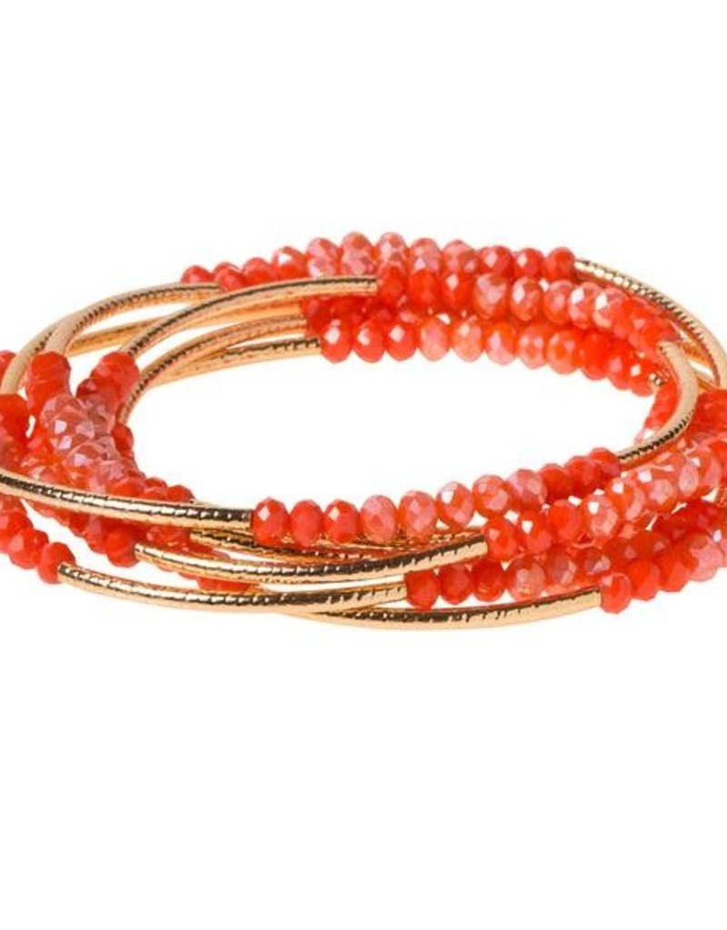 Scout Wrap Coral Combo/Gold