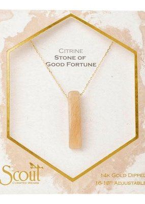 Stone Point Necklace Citrine