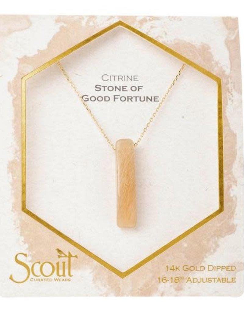 Stone Point Necklace Citrine