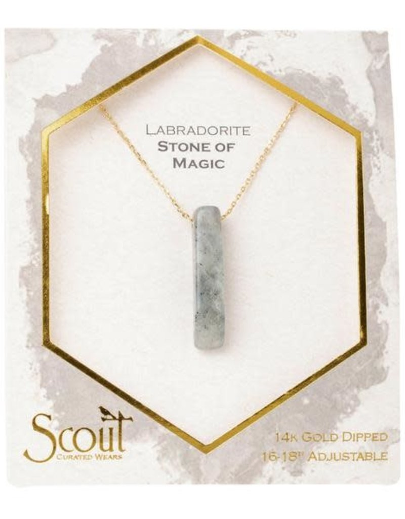 Stone Point Necklace Labradorite