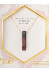 Stone Point Necklace Majestic Jasper