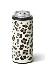 Swig 12oz Skinny Can Cooler Luxy Leopard