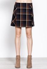 Navy Plaid Mini Skirt
