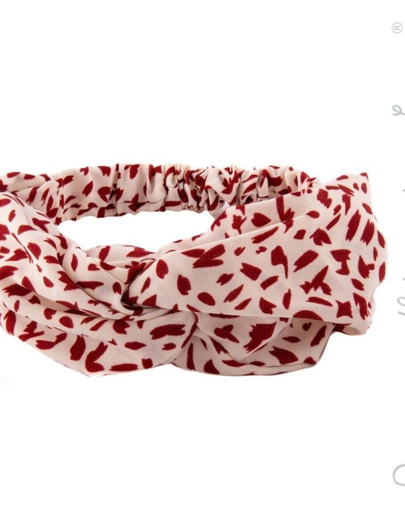Spotted Headwrap Red