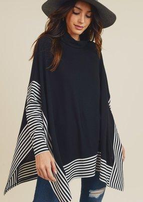 Black Cape Sweater