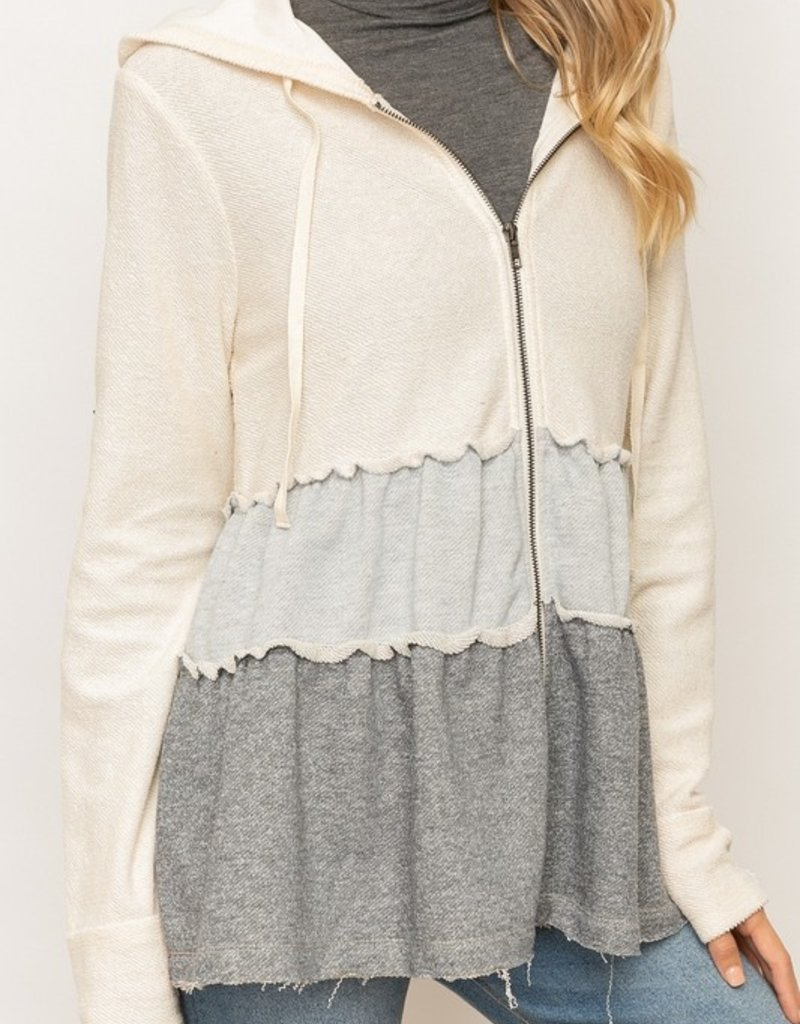 Ivory Layered Zip Up