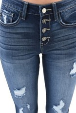 Button Fly High Rise Skinny