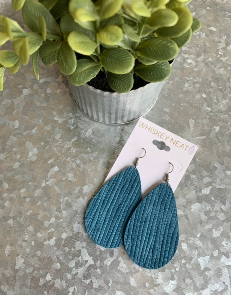 Whiskey Neat Teal Leather Drops