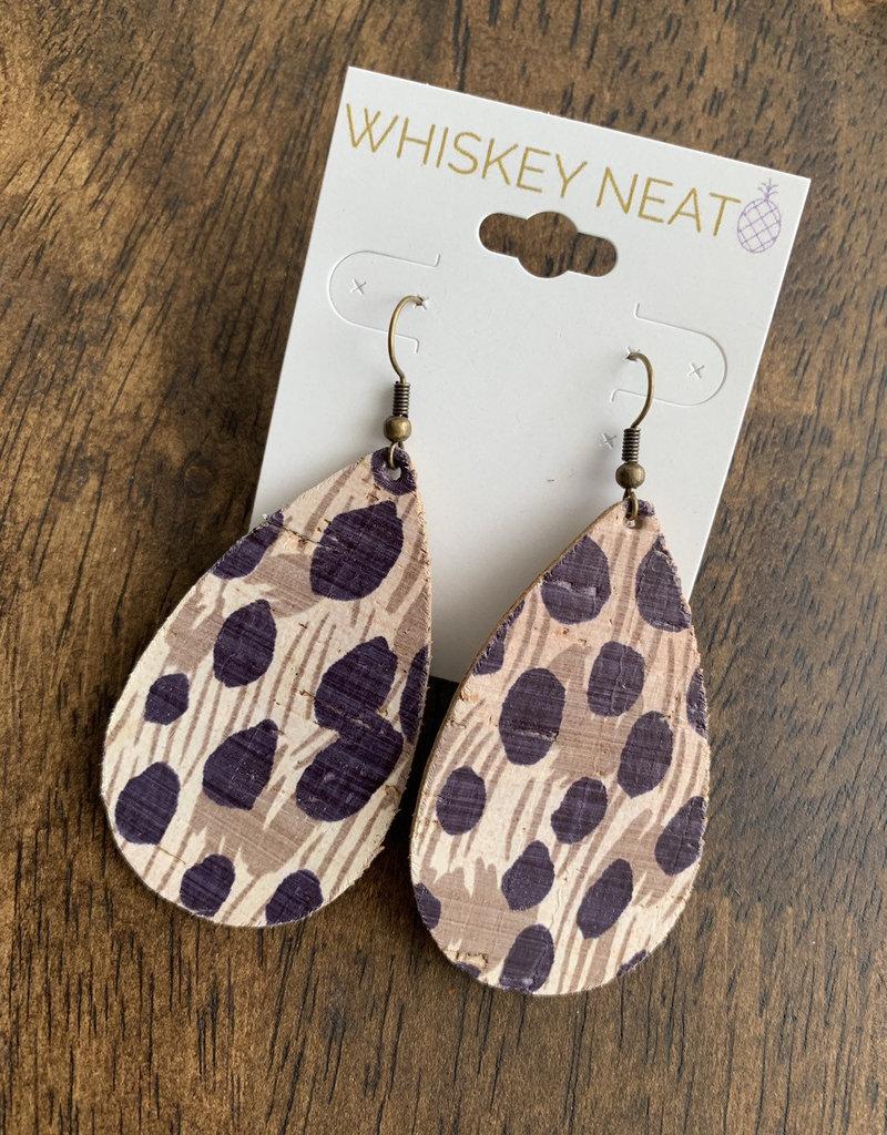 Whiskey Neat Cheetah Cork Drops