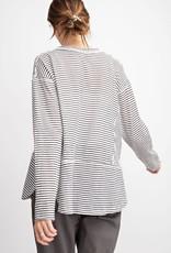 Ash Pin Striped Top