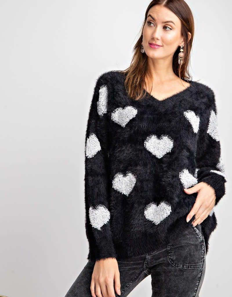 Black Heart Sweater